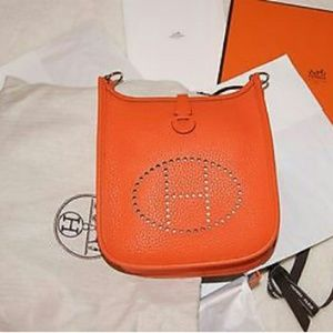 Hermes Leather Pm Evelyne TPM Purse